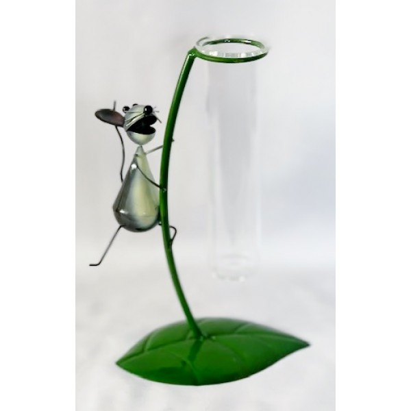 Glass/metal bud holder - Mouse