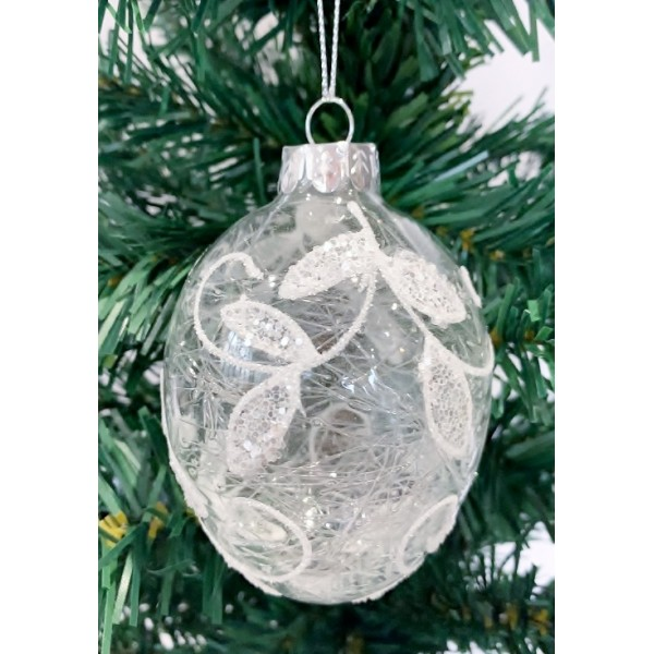 Glass bauble - YUM19023-S