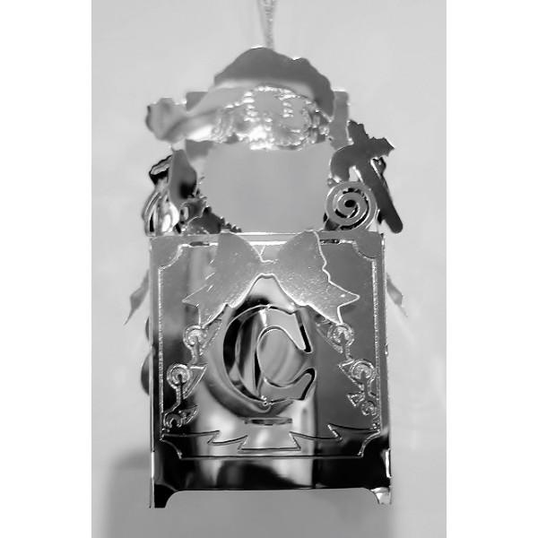 Gift box Santa silver colour