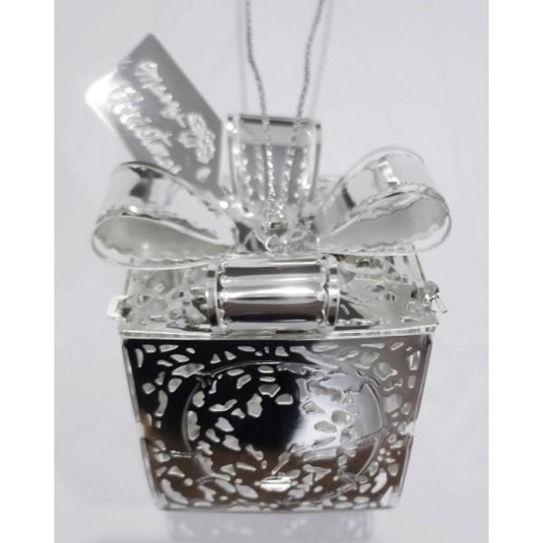 Gift box silver colour