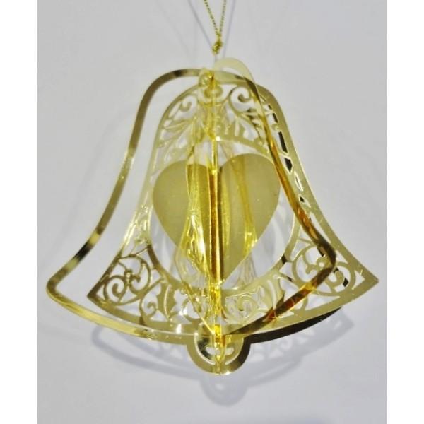 Bell heart gold colour
