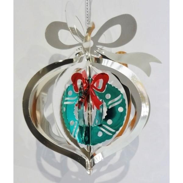 Present wreath silver colour