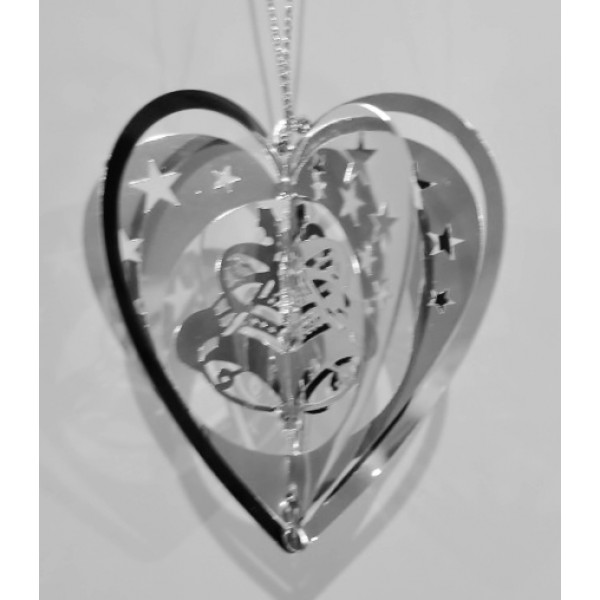 Heart bell silver colour