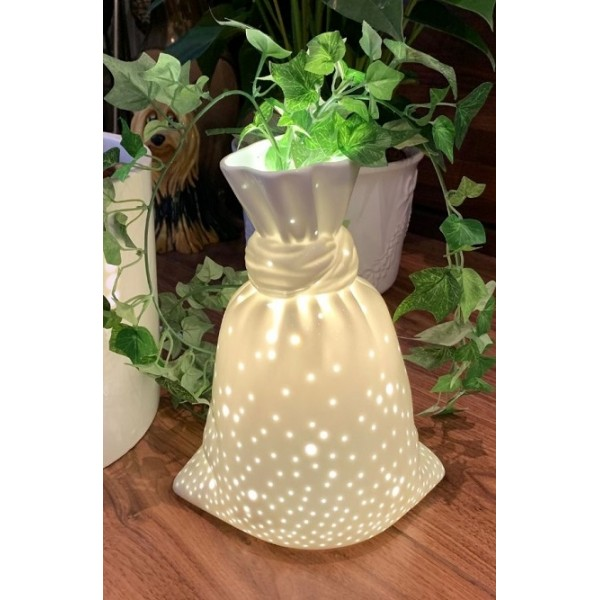 Porcelain vase lamp - Small