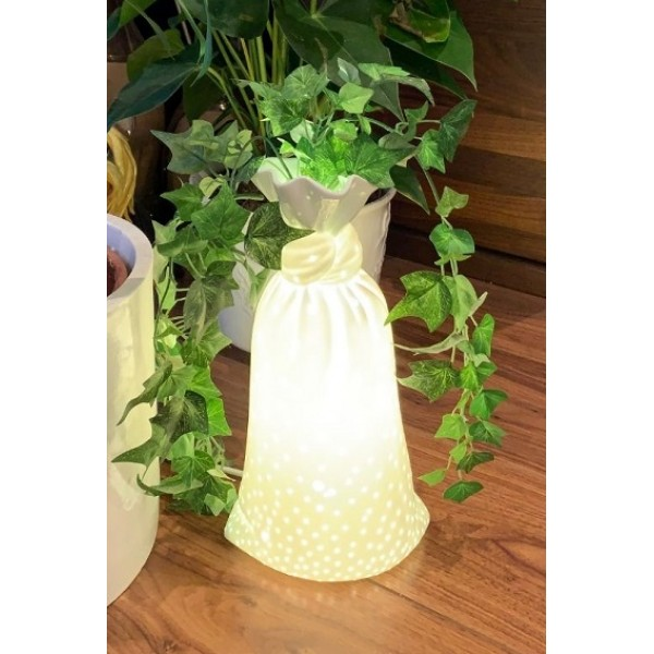Porcelain vase lamp - Medium