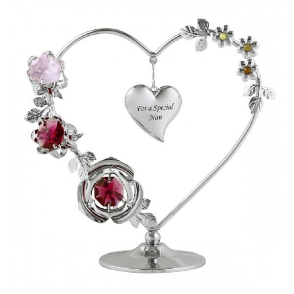 Special nan heart wreath