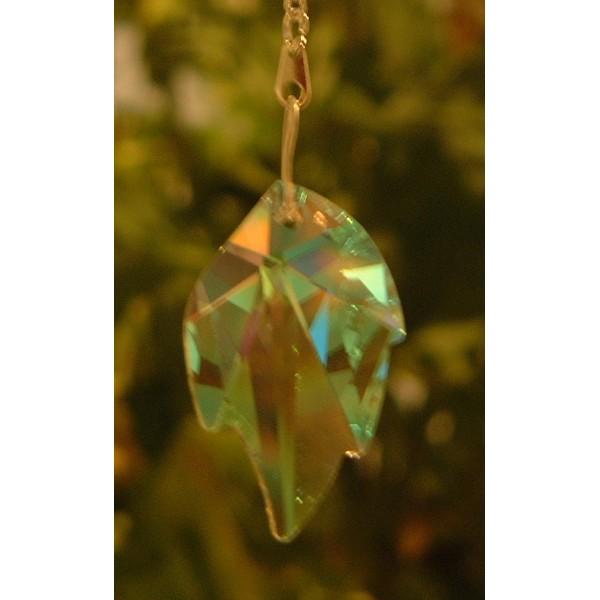 Leaf - Plain crystal (Aurora Borealis)