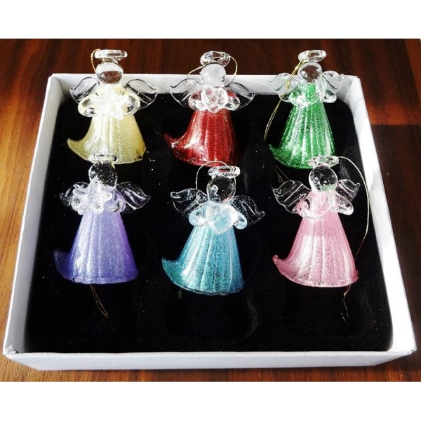 Glass angel set (pack of 6)