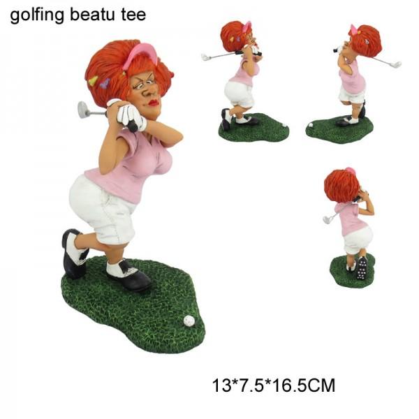Golfing beauty