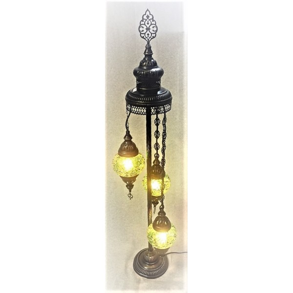 Mosaic floor standing cascading lamp - 3