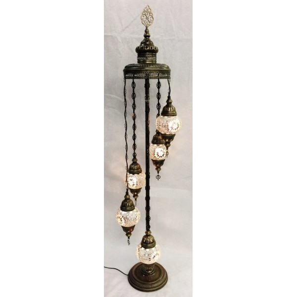 Mosaic floor standing cascading lamp - 5
