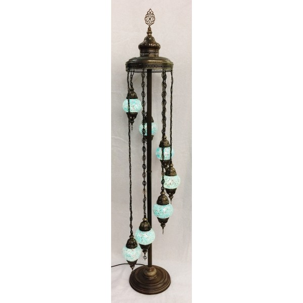 Mosaic floor standing cascading lamp - 7