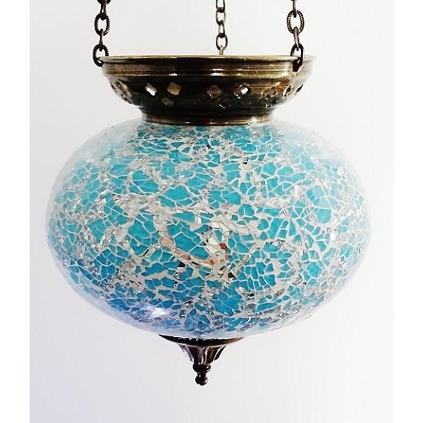 Large hanging mosaic t-lite holder