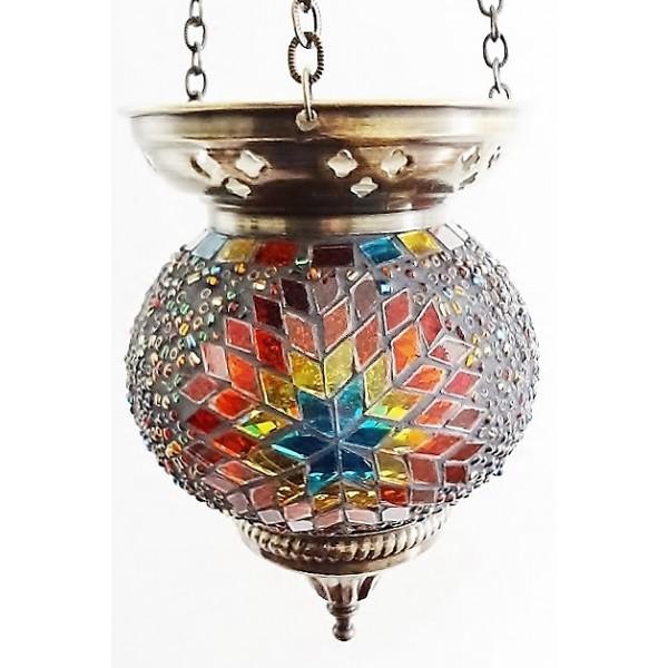 Medium hanging mosaic t-lite holder