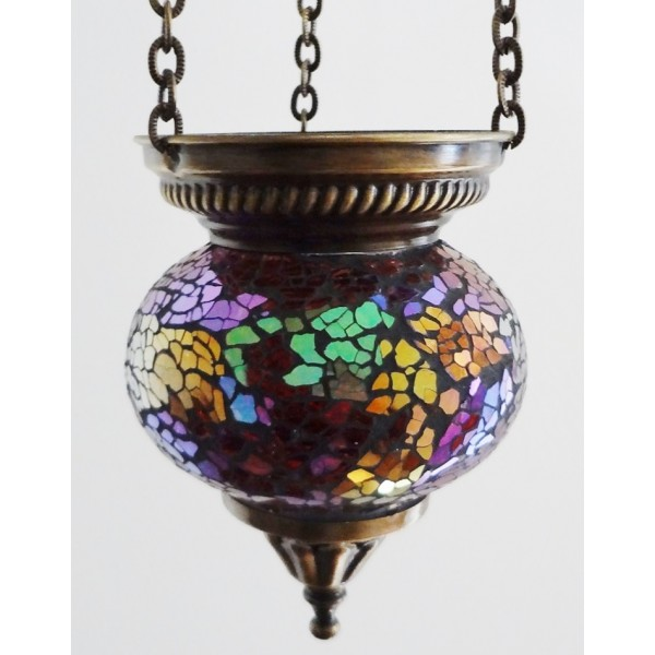 Small hanging mosaic t-lite holder