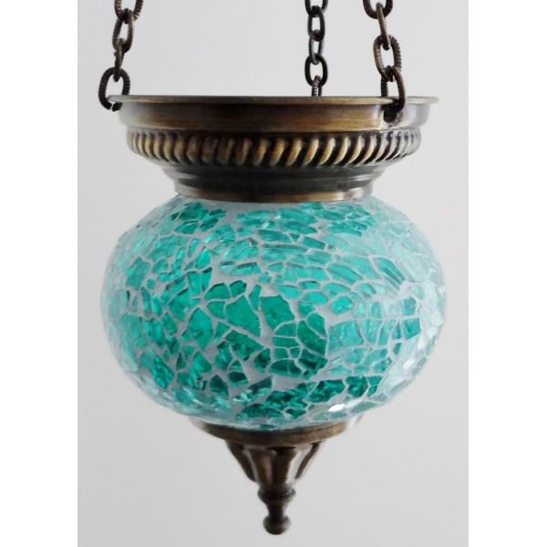 Small hanging mosaic t-lite holder